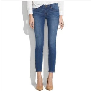 MADEWELL skinny zipper ankle jeans size 24